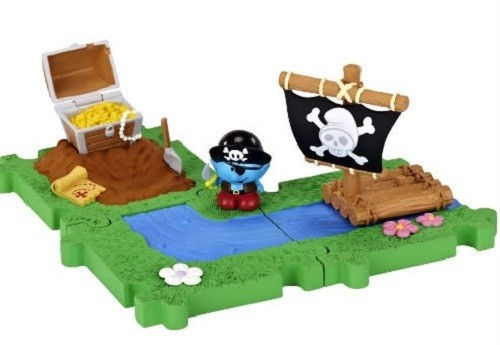 Смурфики: Мини Домик с мини фигуркой Смурфика. Пират - Jakks pacific