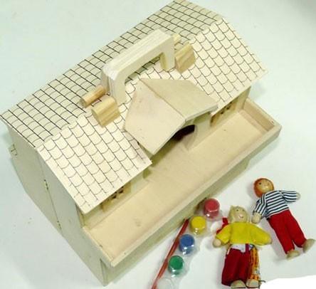 Кукольный домик – раскраска, деревянный - МДИ