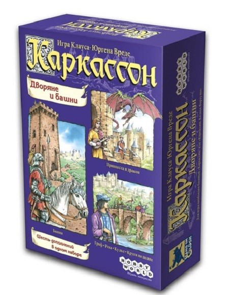 Дополнение к настольной игре Каркассон: Дворяне и Башни - Мир Хобби