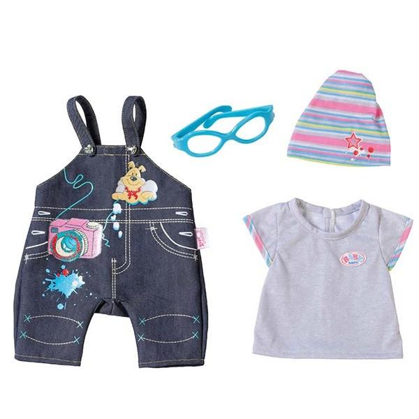 Baby Born: .Одежда джинсовая (комбинзон) для пупса 43 см, - Zapf Creation