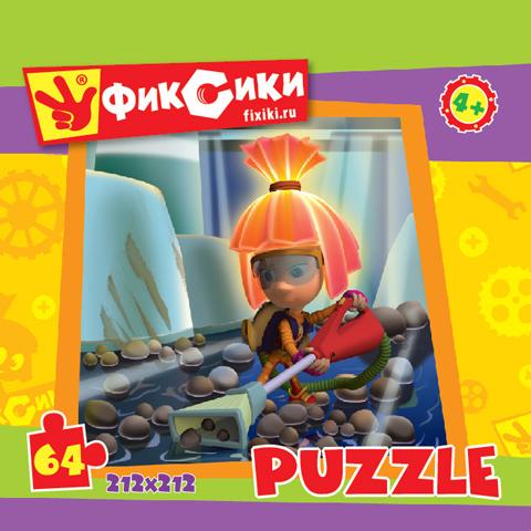 Пазл: Фиксики. Симка с пылесосом, 64 элемента - Origami Puzzle