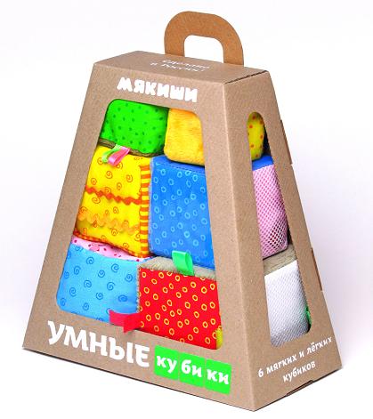 Кубики мягкие: Умные кубики - Мякиши