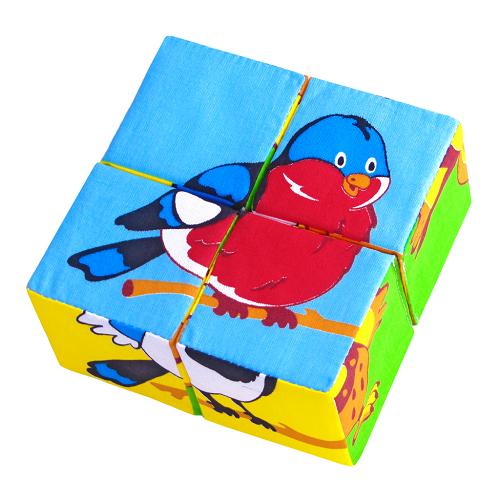 Кубики мягкие: Собери картинку. Птицы - Мякиши