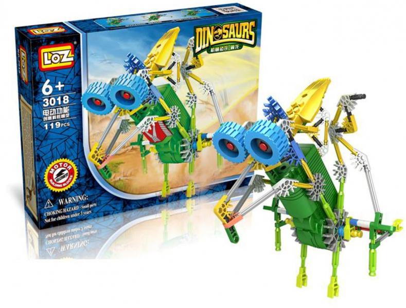 Электромеханический конструктор IROBOT: серия Динозавр. Комарозавр - LOZ