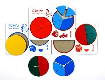 Развивающая Игра Никитина: Дроби 1 уровень, эконом - ОКСВА