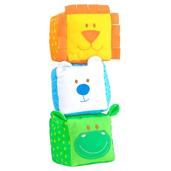 Кубики мягкие: ЗооМякиши. Животные 3 штуки, в ассортименте - Мякиши