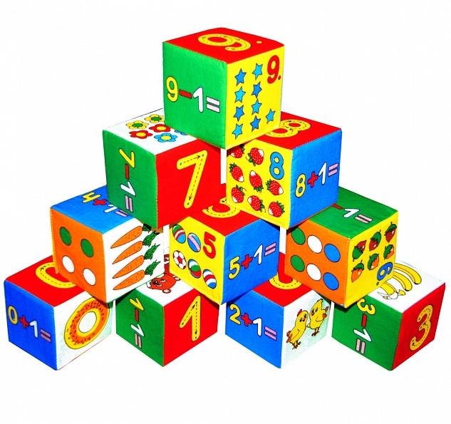 Кубики мягкие: Умная математика – Мякиши