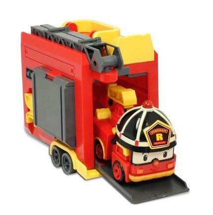 Робокар Поли: Кейс с трансформером Рой 12,5 см, с гаражом - Silverlit