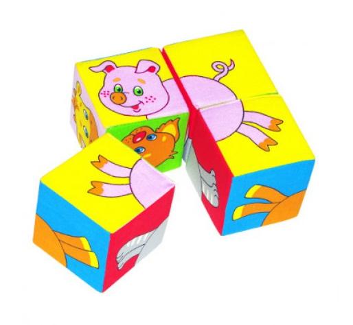 Кубики мягкие: Собери картинку. Животные-2, Домашние животные – Мякиши