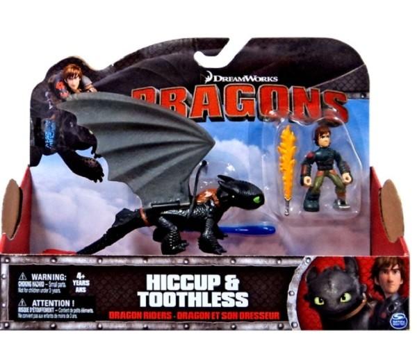 Dragons: Игровой набор Дракон и всадник. Иикинг и Беззубик - Spin Master