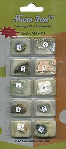 Микропрепараты для стереомикроскопа Набор №9: Камни и минералы