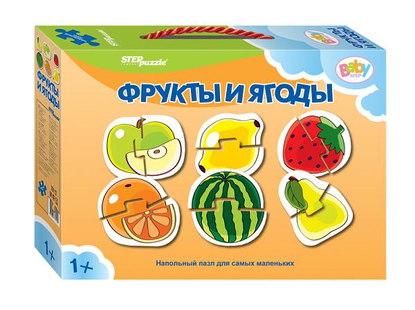 Пазл напольный: Фрукты-ягоды - Step Puzzle