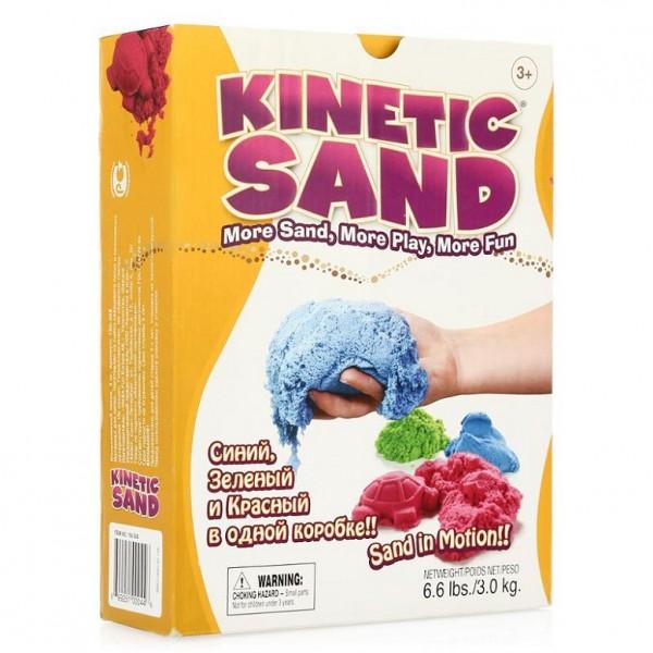 Kinetic Sand 3 цвета (3 кг) – Waba Fun