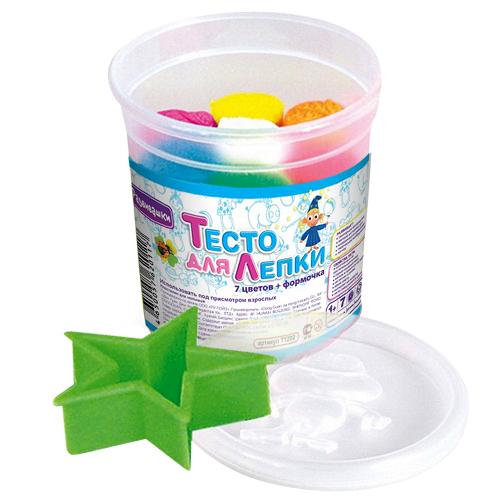 Тесто для лепки: 7 цветов (формочка) - Развивашки