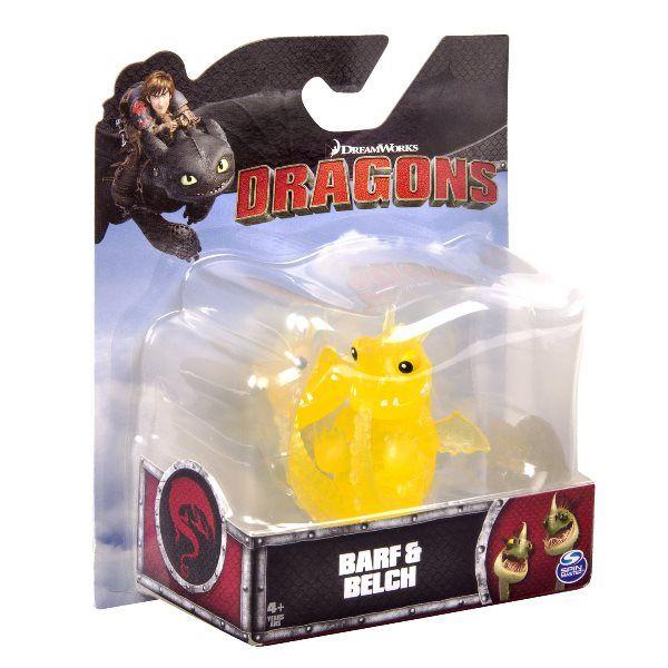 Dragons: маленькая фигурка дракона прозрачный Барс и вепрь (Belch & Barf) - Spin Master