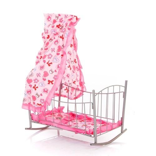 Кроватка-качалка с балдахином 9349 - Melobo