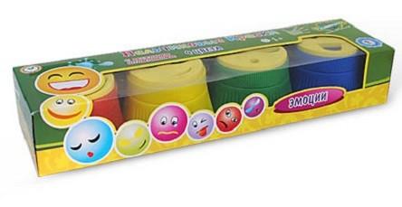 Пальчиковые краски: Эмоции, 4 цвета - Развивашки