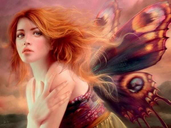 Пазл: Фея с крыльями бабочки, 1000 элементов - Heye