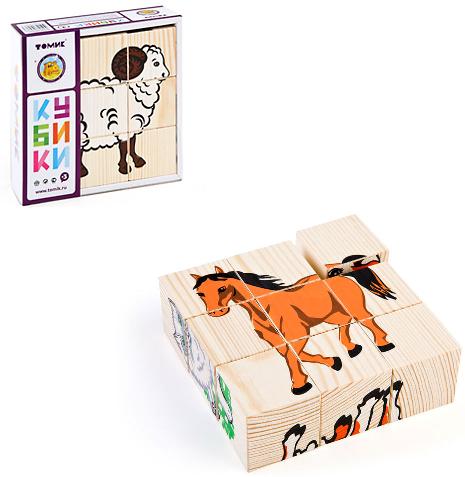 Кубики: Домашние животные, 9 штук - Томик