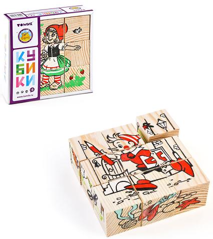 Кубики: Герои Сказок, 9 штук - Томик