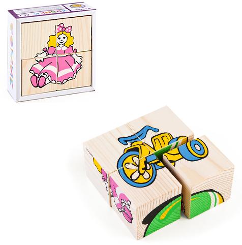 Кубики: Игрушки, 4 штуки - Томик