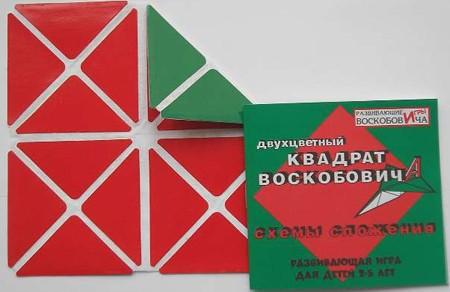 Квадрат 2-х цветный - Развивающие Игры Воскобовича