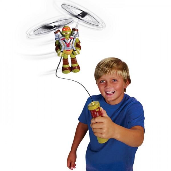 Черепашки Ниндзя: Летающая фигурка Микеланджело - Playmates toys