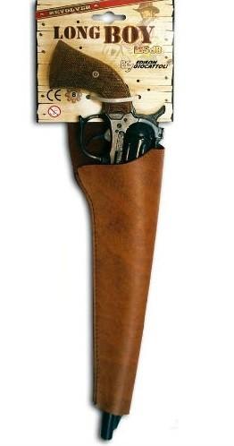 Игрушечный Револьвер Long Boy Western (8-зарядные пистоны) - Edison Giocattoli