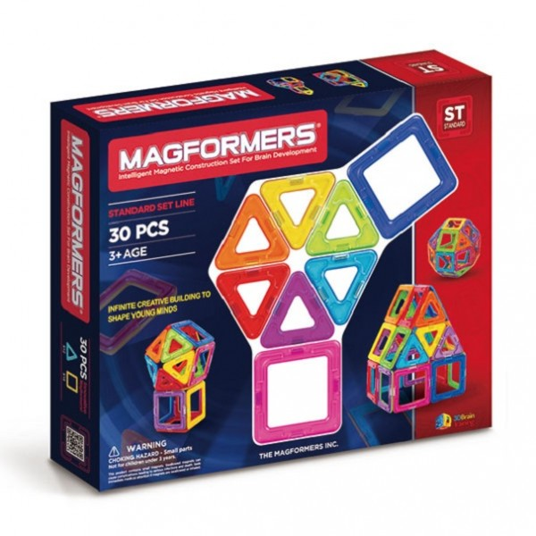 Магнитный конструктор Magfomers: Радуга-30 деталей