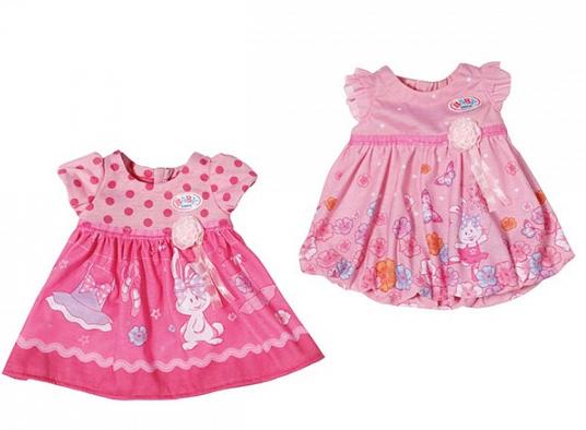 Baby Born: Одежда Платье для пупса 43 см, в ассортименте - Zapf Creation