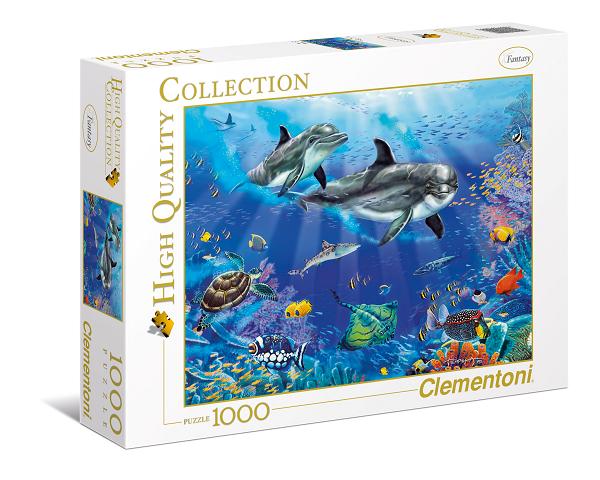 Пазл: Дельфины, 1000 деталей - Clementoni