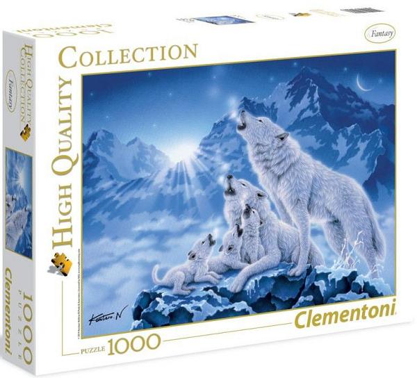 Пазл: Семейство волков, 1000 деталей - Clementoni
