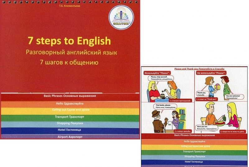 Книга для ручки Знаток: 7 шагов к общению. Разговорный английский язык