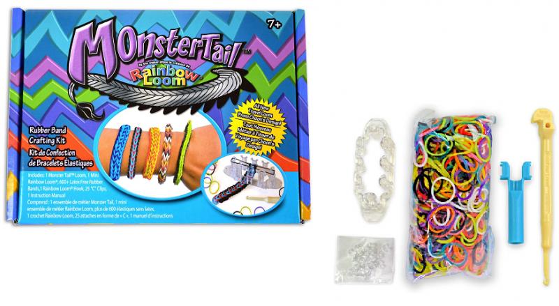 Резинки для плетения браслетов в коробке Monster Tail - RAINBOW LOOM