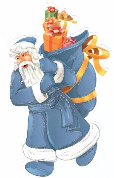 Набор новогодних украшений. Синий - Квадра