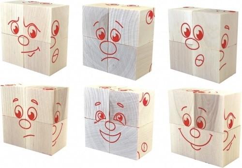 Кубики: Настроения, 4 штуки - Краснокамская Игрушка