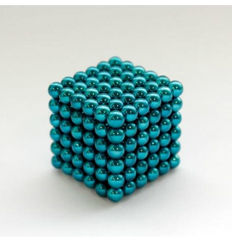 Неокуб Оригинал, Голубой 216 шариков, 5 мм