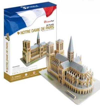 3D пазл: Собор Парижской Богоматери (Нотердам де Пари) - CubicFun