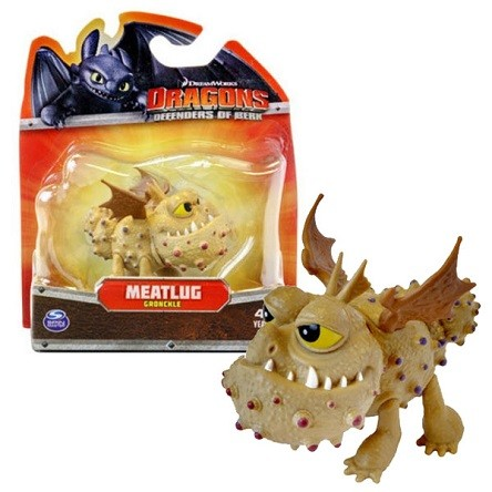 Dragons: маленькая фигурка дракона Meatlug (Сарделька) - Spin Master