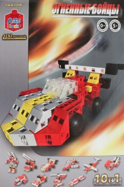 Конструктор ArTeC: Огненные бойцы, 100 дет.