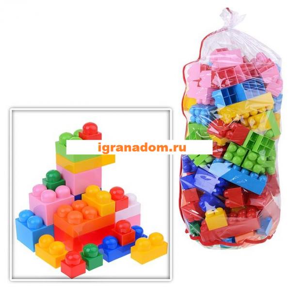 Конструктор пластмассовый: Великан: 153 элемента, в мешке - Полесье