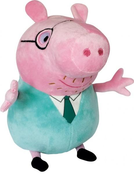 Свинка Пеппа: Мягкая игрушка Папа Свин с галстуком 30см. – Росмэн