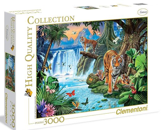 Пазл: Семейство тигров, 3000 элементов - Clementoni