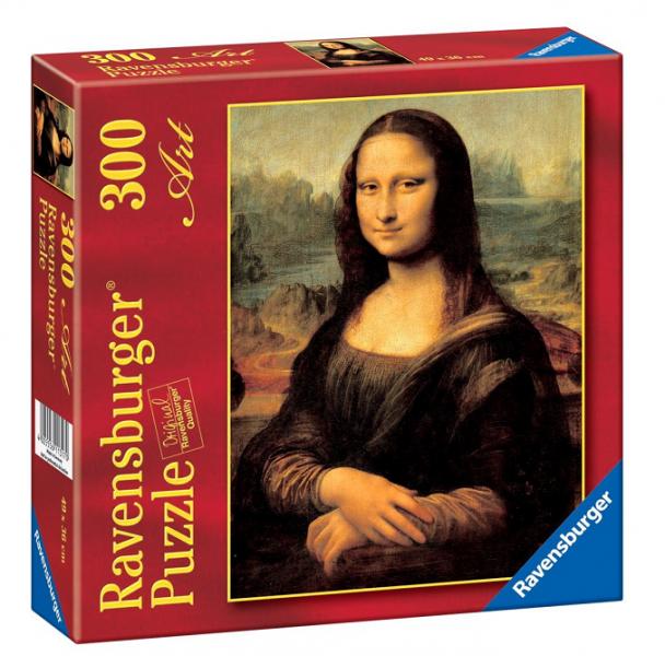 Пазл: Леонардо да Винчи. Мона Лиза, 300 элементов - Ravensburger
