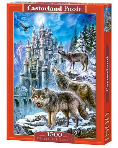 Пазл: Волк и замок, 1500 элементов – Castorland