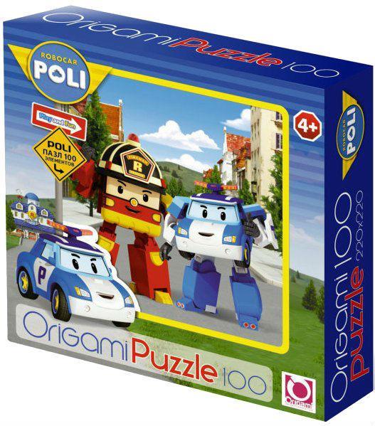 Пазл: Робокар. Рой и Поли, 100 элементов – Origami Puzzle