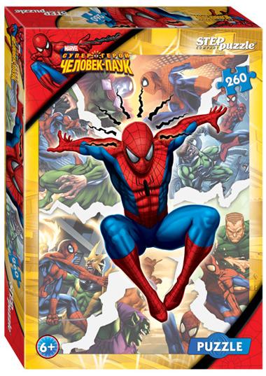 Пазл: Marvel. Человек-Паук, 260 элементов - Step Puzzle