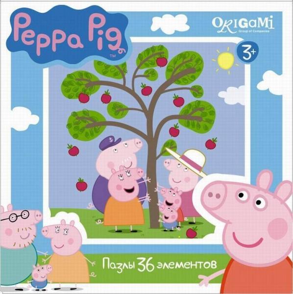 Пазл Свинка Пеппа: Яблоня, 36 эл. – Origami Puzzle