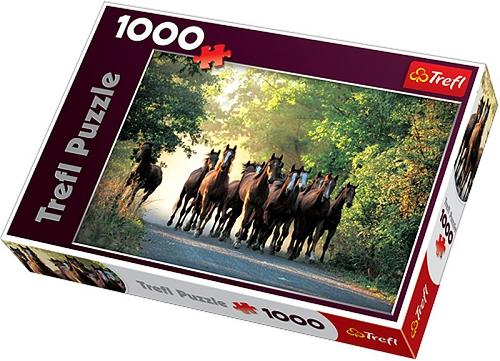 Пазл: Табун Лошадей, 1000 элементов – Trefl