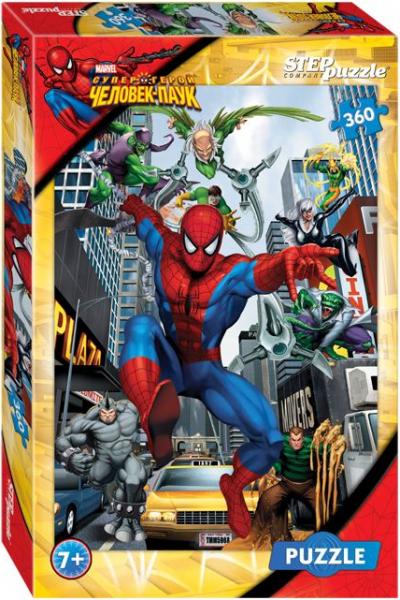 Пазл: Marvel Человек - паук, 360 элементов - Step Puzzle